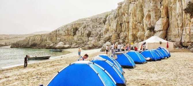 Musandam Out Door beach Camping – Oman tours in Khasab