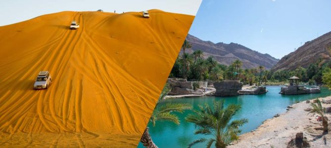 Wahiba Sands & Wadi Bani Khalid (Full Day) 4WD Desert safari – Muscat Tours